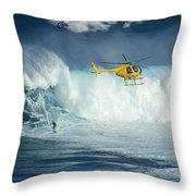 Surfing Jaws 6 Throw Pillow