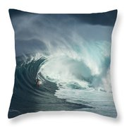 Surfing Jaws Fast And Furious Throw Pillow