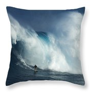 Surfing Jaws Surfing Giants Throw Pillow