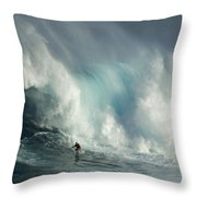 Surfing Jaws The Wild Side Throw Pillow