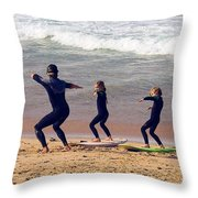 Surfing Lesson Throw Pillow