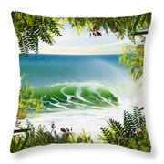 Surfing Paradise Throw Pillow
