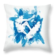 Surfing The Pipe Throw Pillow