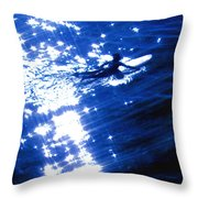 Surfing The Stars Throw Pillow
