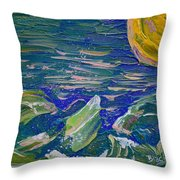 Surfing The Sun Throw Pillow