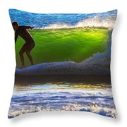 Surfing The Waves 2 Throw Pillow