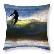 Surfing The Waves Throw Pillow