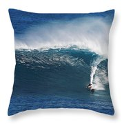 Surfing Waimea Bay Throw Pillow