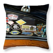 Surfing Woody Throw Pillow