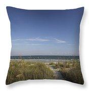 Surfside Beach Sc Throw Pillow