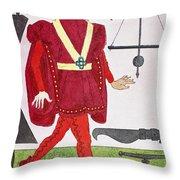 Surgeon, 14th Century Throw Pillow