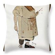 Surgeon: Caricature, 1906 Throw Pillow