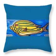 Surgeonfish Throw Pillow