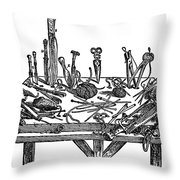 Surgical Instruments, 1567 Throw Pillow