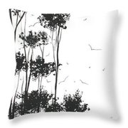Surreal Abstract Landscape Art Painting By Madart Throw Pillow