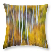 Surreal Aspen Tree Magic Abstract Art Throw Pillow