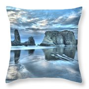 Surreal Beach Swirls Throw Pillow