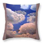 Surreal Cloud One Throw Pillow by Paula Marsh
