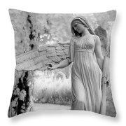 Surreal Dreamy Fantasy Infrared Angel Nature Throw Pillow