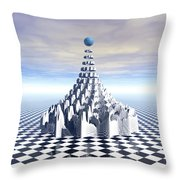 Surreal Fractal Tower Throw Pillow