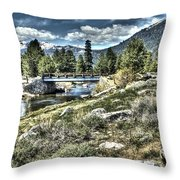 surreal Hope Valley Throw Pillow