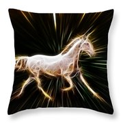 Surreal Horse Throw Pillow