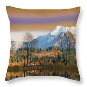 Surreal Landscape-hdr Throw Pillow