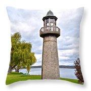 Surreal Lighthouse Throw Pillow
