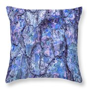 Surreal Patterned Bark In Blue Throw Pillow