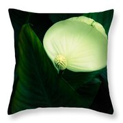 Surreal Peace Lily Throw Pillow