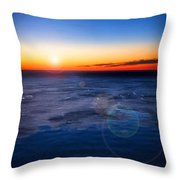 Surreal Planet Throw Pillow