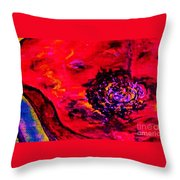 Surreal Poppy  . . .  Woman Breaks Out Throw Pillow