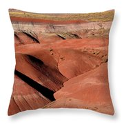 Surreal Red Landscape Throw Pillow