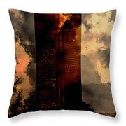 Surreal Sky Scraper Throw Pillow