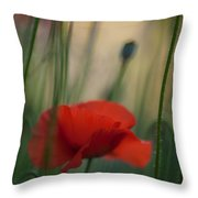 Surrealistic Red Throw Pillow