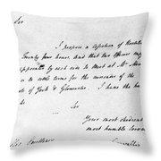 Surrender At Yorktown Throw Pillow