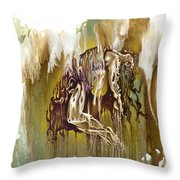 Surrender Throw Pillow by Karina Llergo