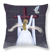 Surrender Version 2 Throw Pillow by Constance Woods