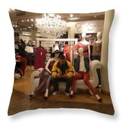 Surrounded By Beauties Throw Pillow