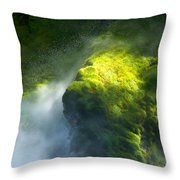 Surrounded By Mist Throw Pillow