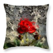 Survive The Storm Throw Pillow