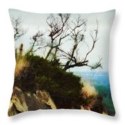 Surviving On The Cliff Top  Throw Pillow