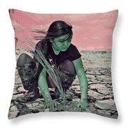 Surviving The Fallout Throw Pillow by Absinthe Art By Michelle LeAnn Scott