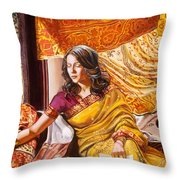 Suryani's Letter Throw Pillow