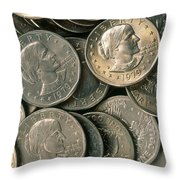 Susan B. Anthony Dollar Throw Pillow
