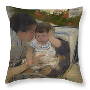 Susan Comforting The Baby Throw Pillow