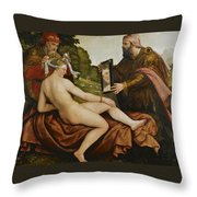Susanna And The Elders Throw Pillow