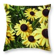 Susans Black Eye #1 20140831 Throw Pillow