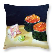 Sushi 6 Throw Pillow