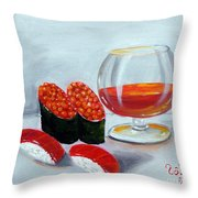 Sushi 7 Throw Pillow